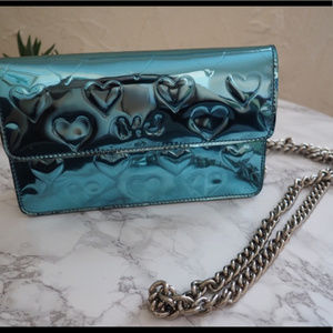 Marc by Marc Jacobs Blue Mirror Heart Shoulder Bag